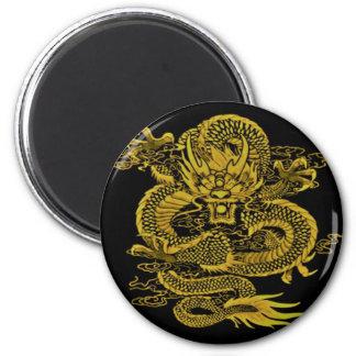 Episches Drache-Gelb Runder Magnet 5,1 Cm
