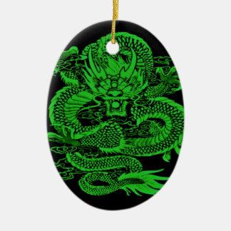 Episches Drache-Grün Keramik Ornament