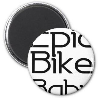 Episches Fahrrad-Baby Runder Magnet 5,7 Cm