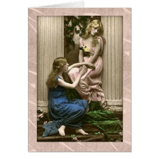 Episches Party, danke viktorianische Damen Karte