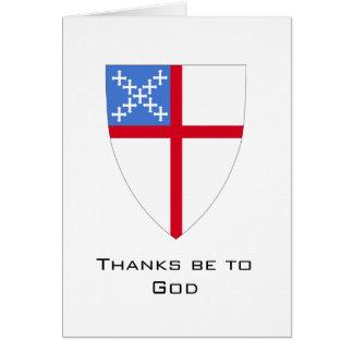 Episkopal-Dank ist zum Gott Karte