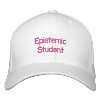 Epistemic Studenten-Hut Bestickte Kappe