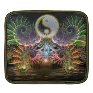 Equilibrio Fraktal YinYang iPad Tablette-Hülse iPad Sleeve