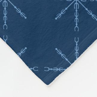Equus-Blau-Schneeflocke Fleecedecke