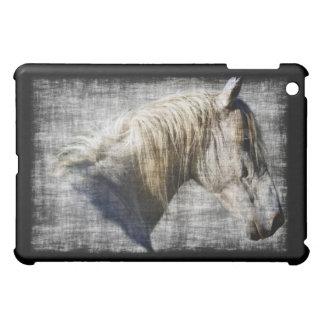 Equus-weißes Pferdeporträt iPad Fall iPad Mini Hülle