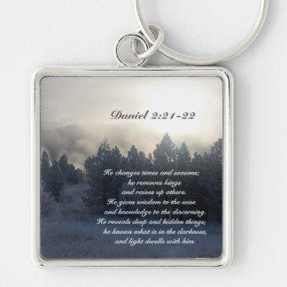 Er ändert Zeiten und Jahreszeiten, Daniel-2:21 Schlüsselanhänger