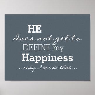 Er definiert nicht mein motivierend Glück - Poster