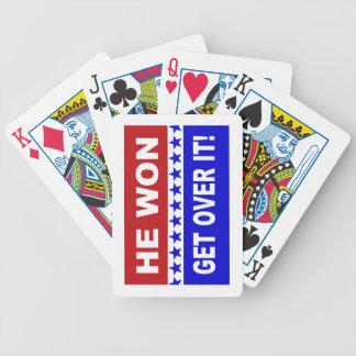 Er gewann erhält über es! Spielkarten
