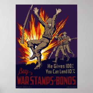 Er gibt 100%, das Sie 10% leihen können -- WW2 Poster