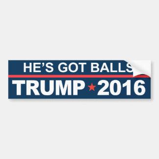 Er hat Ball-Trumpf 2016 Autoaufkleber