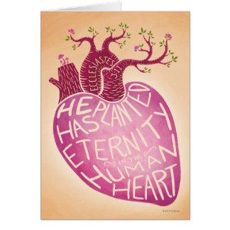 Er hat Ewigkeit im menschlichen Herzen gepflanzt Karte