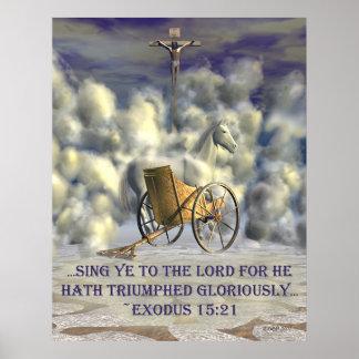 Er Hath triumphierte Poster
