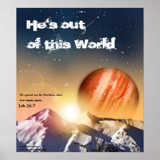 Er ist aus diesem Weltplakat heraus Poster