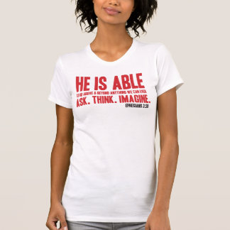 Er ist fähiges christliches Bibel-T-Shirt - Rot T-Shirt