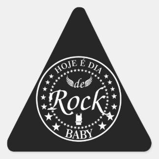 Er ist heute Tag des Klassischen Rocks Dreieckiger Aufkleber
