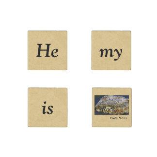 Er ist mein Felsen Scripture, Steinmagnet, Set von Stein-Magnet