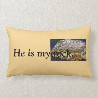 Er ist mein Felsen Wurfs-Kissen, lumbal Lendenkissen
