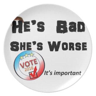 Er ist sie ist schlechtere Abstimmung 2016 Melaminteller
