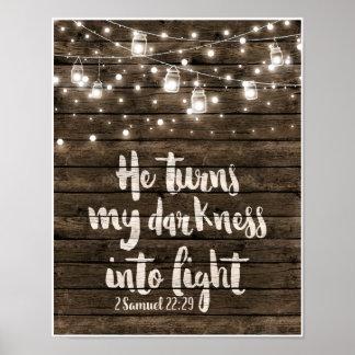 Er macht meine Dunkelheit zu Licht Poster
