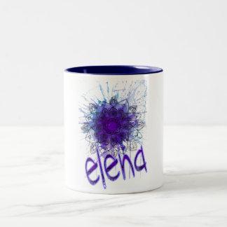 Er nennt Elena Zweifarbige Tasse
