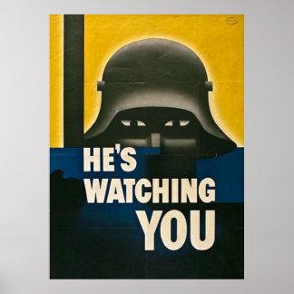 Er passt Sie auf Poster