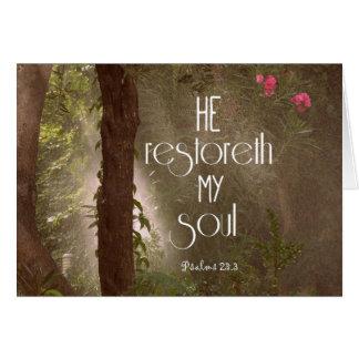 Er restoreth mein Soul-Bibel-Vers Karte