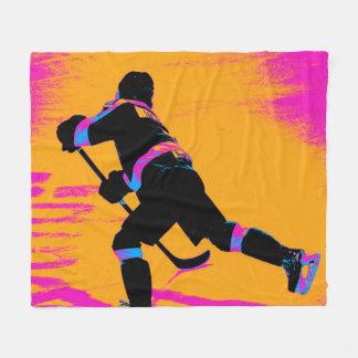 Er schießt! - Hockey-Spieler Fleecedecke