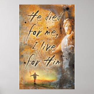 ER STARB FÜR MICH - Jesus Christus-religiöses Plak