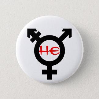 Er Transgender Runder Button 5,1 Cm