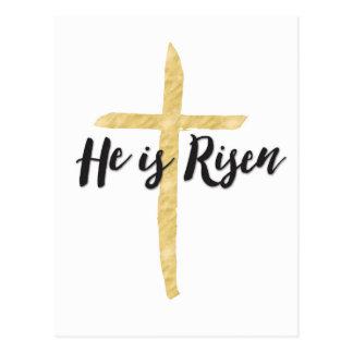 Er wird, religiöse Ostern-Postkarte gestiegen Postkarte