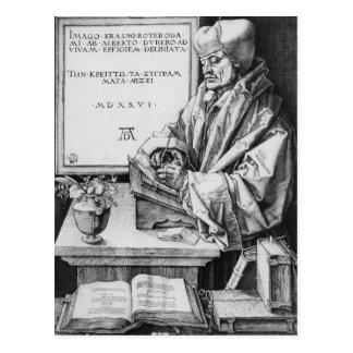 Erasmus von Rotterdam von Rotterdam, 1526 Postkarte