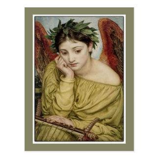 Erato, Muse der lyrischen Poesie Postkarte