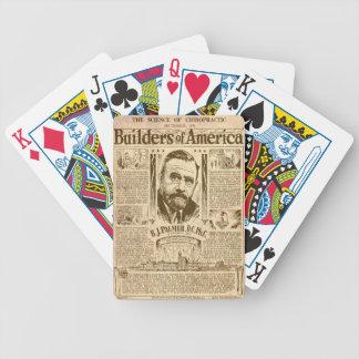 Erbauer von Amerika Bicycle Spielkarten