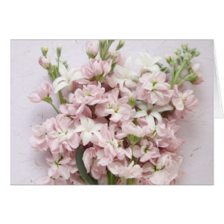 erblassen Sie - die rosa Blüten, die an Sie Karte