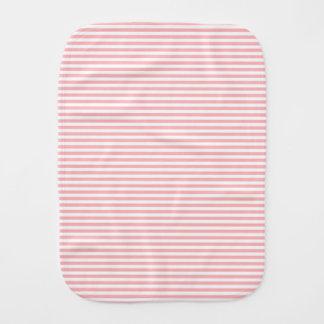 Erblassen Sie - die rosa und weißen Streifen Spucktuch