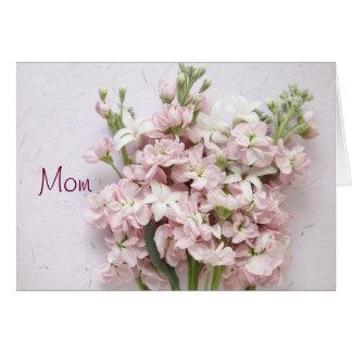 erblassen Sie - Karte Rosablüten Mutter Tages
