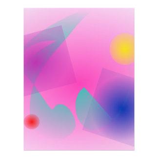 Erblassen Sie - rosa einfache abstrakte Vollfarbige Flyer