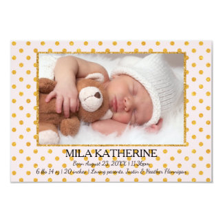 Erblassen Sie - rosa Geburts-Mitteilung des 8,9 X 12,7 Cm Einladungskarte