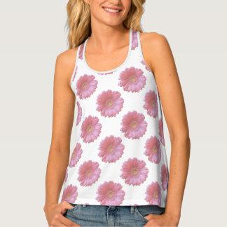 Erblassen Sie - rosa Gerberagänseblümchen Tanktop