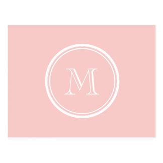 Erblassen Sie - rosa obere Grenze farbiges Postkarte