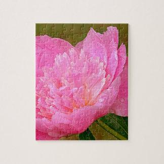 Erblassen Sie - rosa Pfingstrose auf Produkten Puzzle