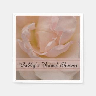Erblassen Sie - rosa Rosen-BlumenBrautparty Servietten