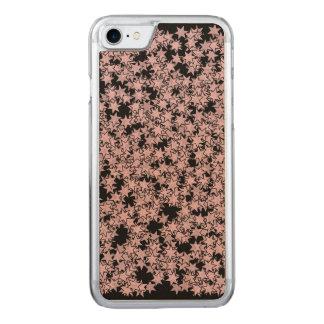 Erblassen Sie - Rosa und Schwarz-Sterne Kawaii Carved iPhone 8/7 Hülle
