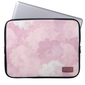 Erblassen Sie - rosa Watercolor-Rosen-Laptop-Hülse Laptopschutzhülle