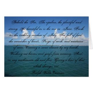 Erblicken Sie das Meer… Ralph Waldo Emerson Karte