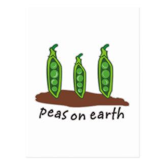 Erbsen auf Erde Postkarte