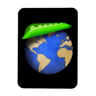 Erbsen auf Erde - Weltfrieden-Feiertag Magnet