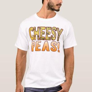 Erbsen-blaues käsiges T-Shirt
