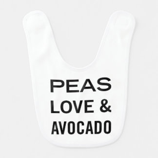 Erbsen Liebe und Avocado-lustiges Lätzchen