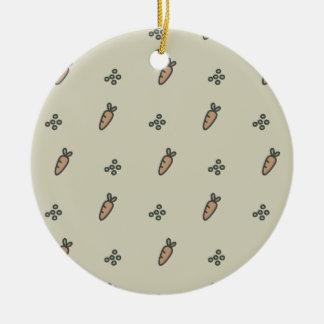 Erbsen u. Karotten Keramik Ornament